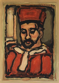 le juge (from georges rouault) by georges rouault