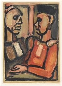 juges (from les fleurs du mal) by georges rouault