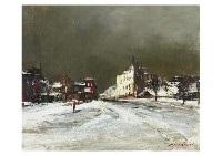 winter town by yotsuo kasai