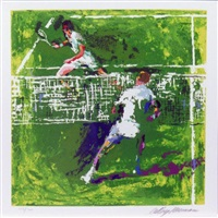 tennis players by leroy neiman