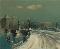 pont sous la neige by martin bolle