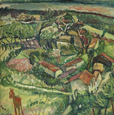 paysage à lâne by chaïm soutine