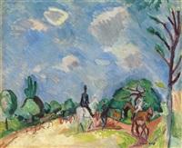 cavaliers, avenue du bois by raoul dufy