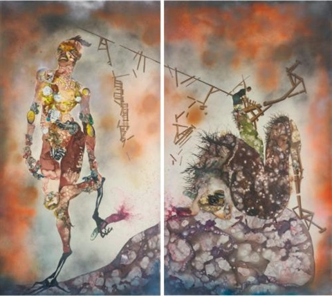 my strength lies in 2 parts by wangechi mutu