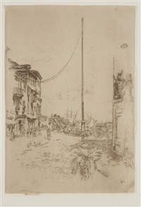 the little mast (first venice set) by james abbott mcneill whistler