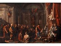 schwurszene eines knaben im römischen jupitertempel by johann heiss
