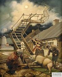 schweine gehen zum himmel by dariusz milinski
