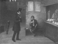 a scene from charles dickens by george fox
