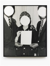 3 voided persons by john baldessari