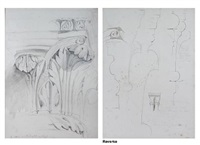 the stones of venice, sketch (+ another sketch; 2 works) by john ruskin