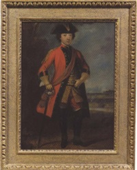 portrait of major thomas burton by david morier