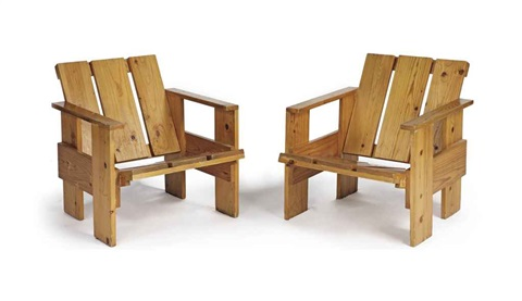 easy chairs 2 works by gerrit thomas rietveld