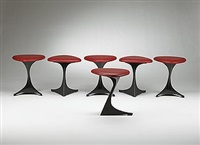 tabourettli theatre stools (set of 6) by santiago calatrava