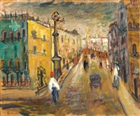paris with figures by pinchas abramovich