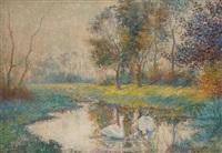 l'étang aux cygnes by carlo van her