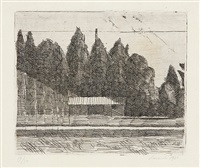 campo di tennis ai giardini margherita a bologna by giorgio morandi