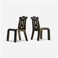 chippendale chairs (pair) by robert venturi