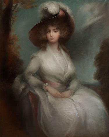 damenportrait by thomas gainsborough