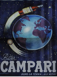 plakat campari (in 2 joined parts) by nino nanni