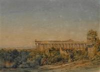 die tempel von paestum by ludwig franz karl bohnstedt