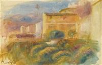 la maison de la poste à cagnes by pierre-auguste renoir