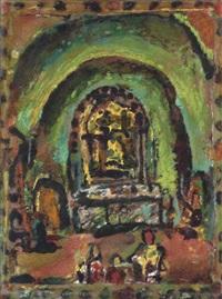 intérieur d'eglise (à la voûte claire) by georges rouault