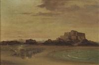 normannische gezeitenküste bei saint-maló, im hintergrund fort national by françois frédéric grobon
