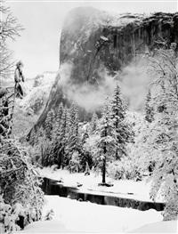 el capitan, winter, yosemite national park, california by ansel adams