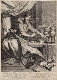 vanitas (after abraham bloemaert) by willem isaaksz swanenburgh the elder