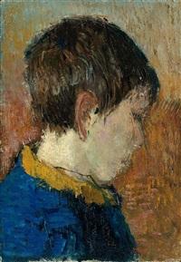 knabenbildnis im profil by otto niemeyer-holstein