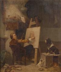 le peintre et son modèle by karl josef litschauer