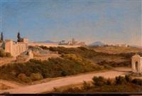 vue des environs de rome by salomon corrodi