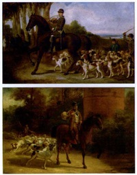 la chasse à courre (pair) by louis ghémar