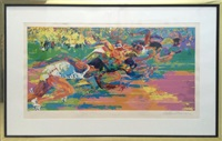 olympic track by leroy neiman