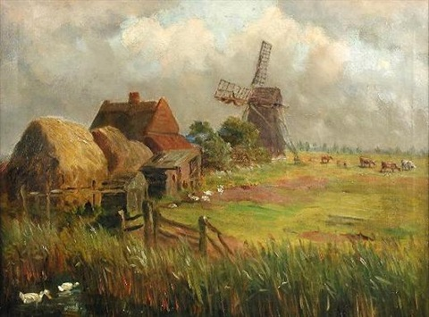 a marsh farmstead tunstall norfolk by william leslie rackham