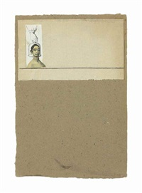 untitled (female head under glass) by robert rauschenberg