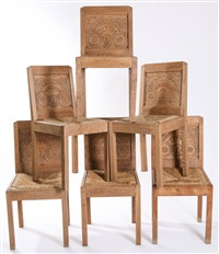 suite de six chaises (set of 6) by joseph savina