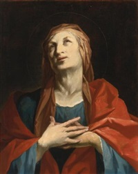 a female saint, half length, possibly saint anne or elizabeth by giuseppe antonio petrini