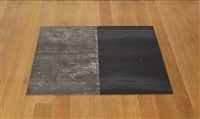 zinc-steel dipole (e/w) (in 2 parts) by carl andre