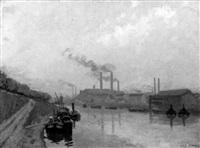 seinelandschaft mit farbrikanlagen by gabriel dufaux