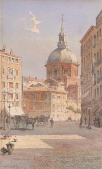 vue animée d'une ville en italie avec basilique by angelos giallina