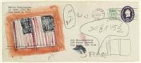 untitled (envelope rauschenberg/cunningham) by jasper johns