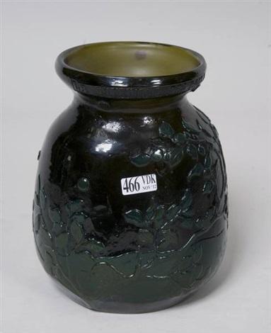 vase la myrtille des bois by émile gallé
