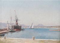 harbor scene by william baptiste baird