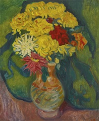 vase de dahlias by louis valtat