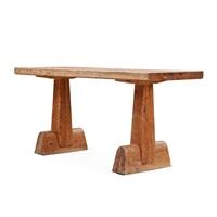 an axel einar hjorth 'utö' stained pine console / library table by axel einar hjorth