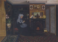 sewing by the fireside by marie j. naylor