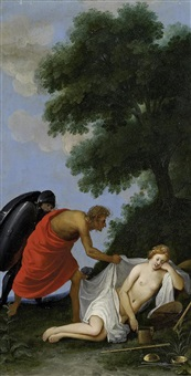 mars und die schlafende justitia by johann (hans) konig