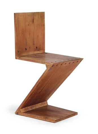 a zigzag chair by gerrit rietveld