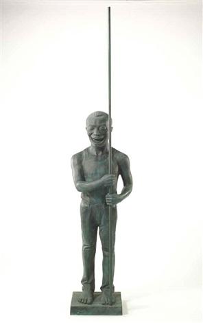 contemporary terracotta warrior by yue minjun